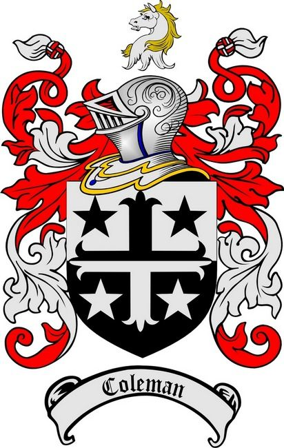 Family Crest Coleman Family Crest Sullivan Burgess Family Tree